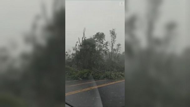 Dashcam video captures damage following tornado in Maryland