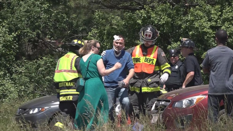 2 dead after 11 ejected from tour van in Massachusetts crash - ABC News