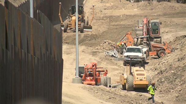 Privately funded border wall forced open