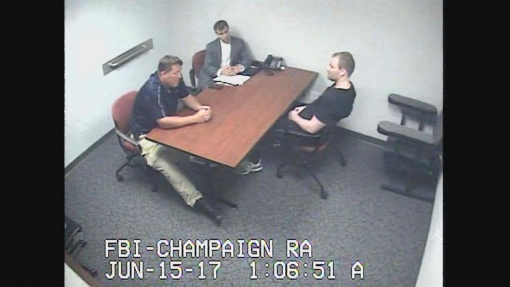 VIDEO: Investigators confront accused killer in missing student case