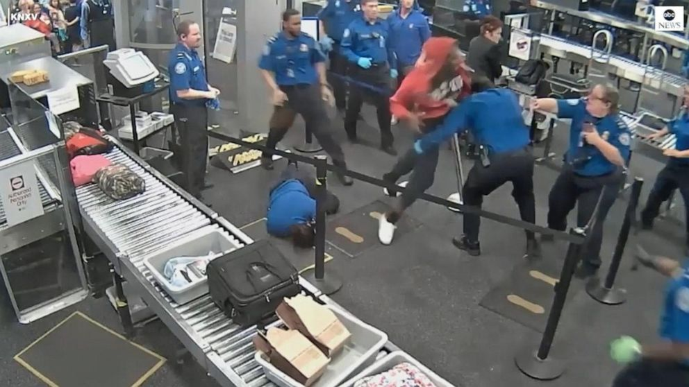 Man brawls with TSA agents at Phoenix airport: Video