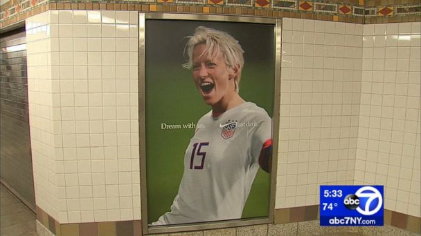 NYPD investigating hate crime following vandalism of images of Megan Rapinoe