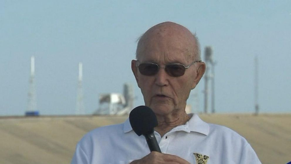 50 years later: Astronaut Michael Collins returns to the Apollo 11 launch pad