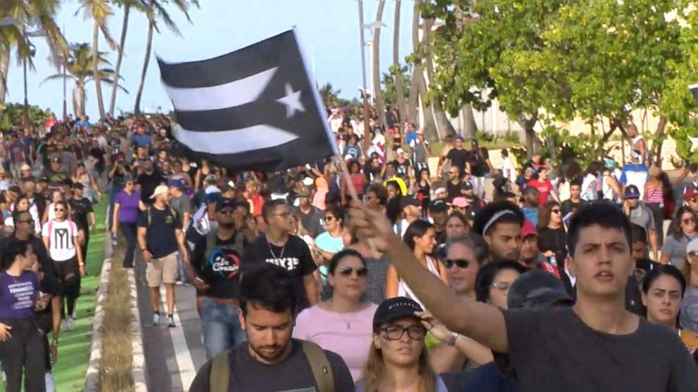 Trump tweets about Puerto Rico being 'under siege' amid violent protests over governor