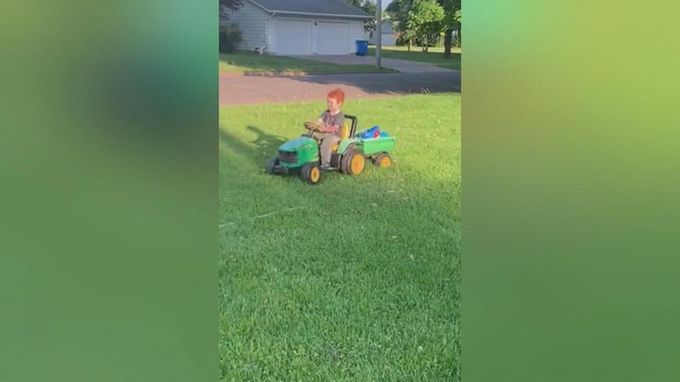 Missing 2-year-old Minnesota boy drove himself to county fair on toy tractor