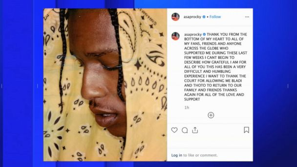 A$AP Rocky released from jail in Sweden