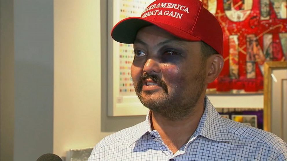 New York City gallery owner says he was attacked for wearing 'Make ...