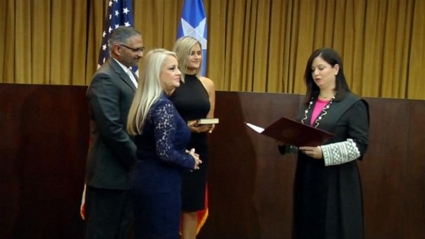 Puerto Rico swears in new governor