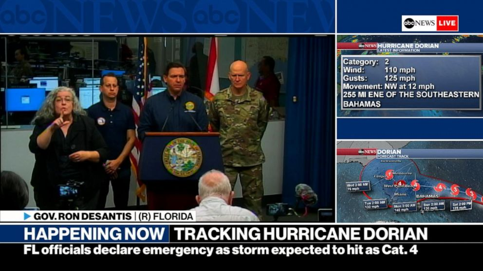 Hurricane Dorian Now Category 4 Continues Its Path Toward