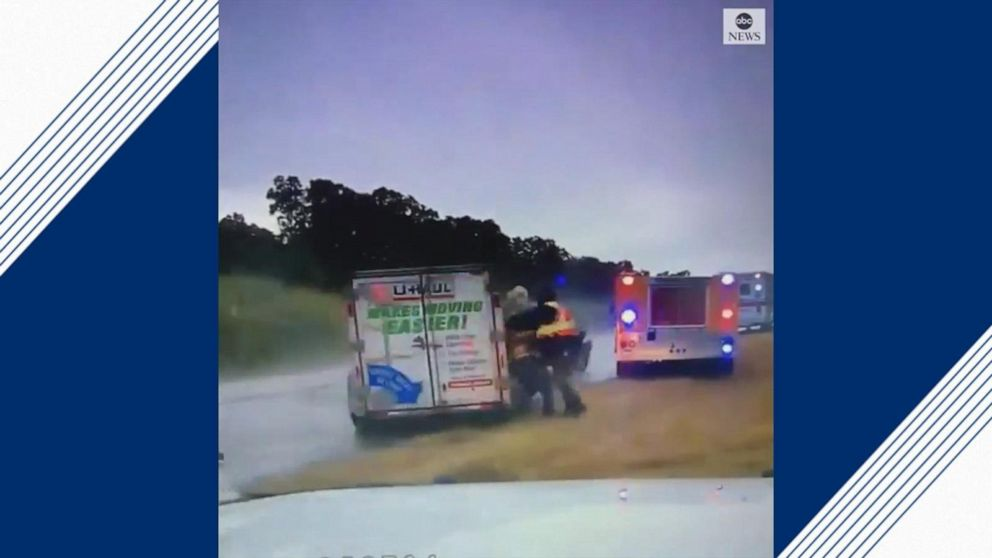 Dramatic video shows U-Haul slam into firefighters