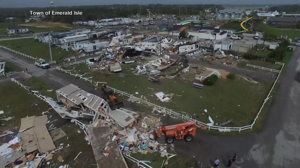 Hurricane Dorian, already responsible for 20 reported tornadoes, lashes North Carolina coast