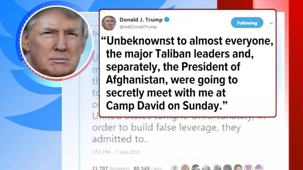 Trump cancels meeting with Taliban leaders Video - ABC News
