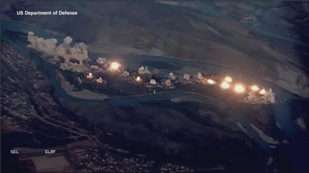 "US-led coalition strikes ISIS ""infested"" island in Iraq"