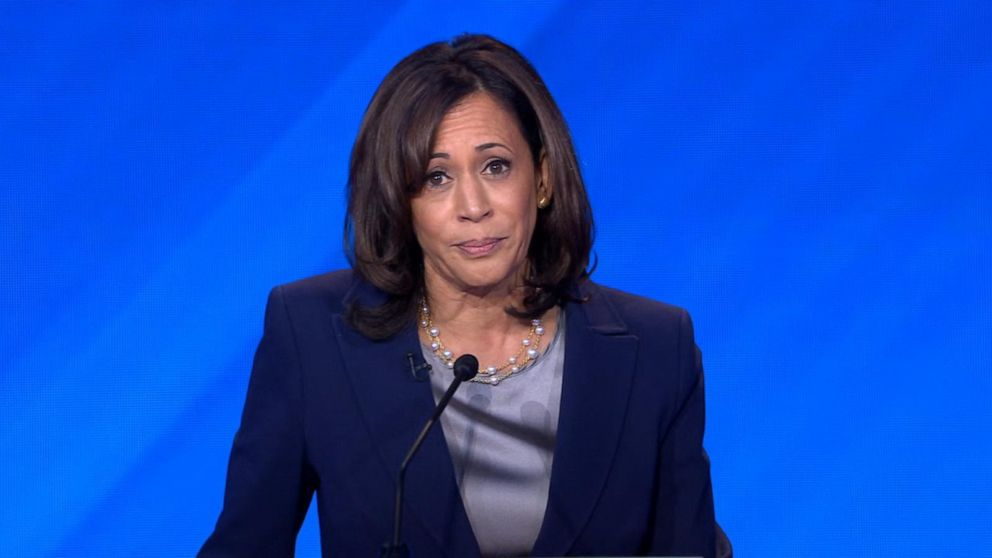 Kamala Harris directly addresses Trump during Democratic debate