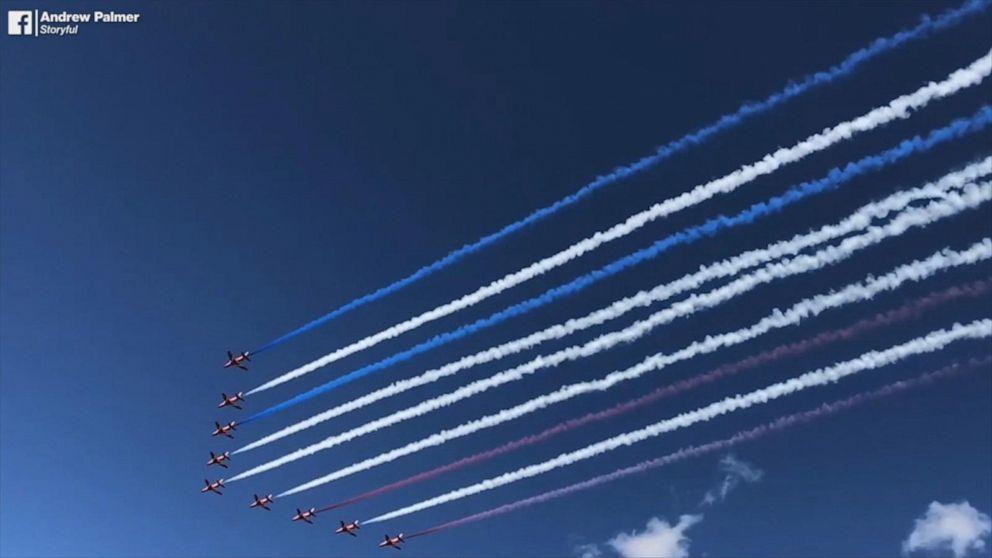 Red Arrows perform dazzling flyover in Colorado Springs