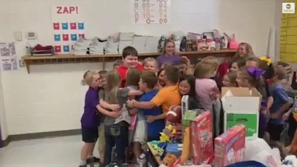 3rd graders organize 'toy drive' for classmate who lost belongings in house fire