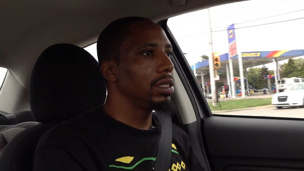Taking a drive with an auto worker on the General Motors picket line in Flint, Michigan