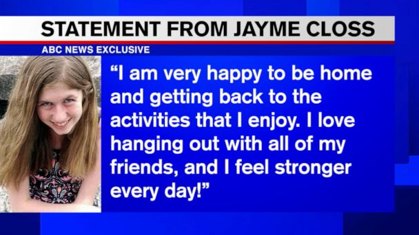 Jayme Closs says she's feeling 'stronger every day' 1 year after kidnapping