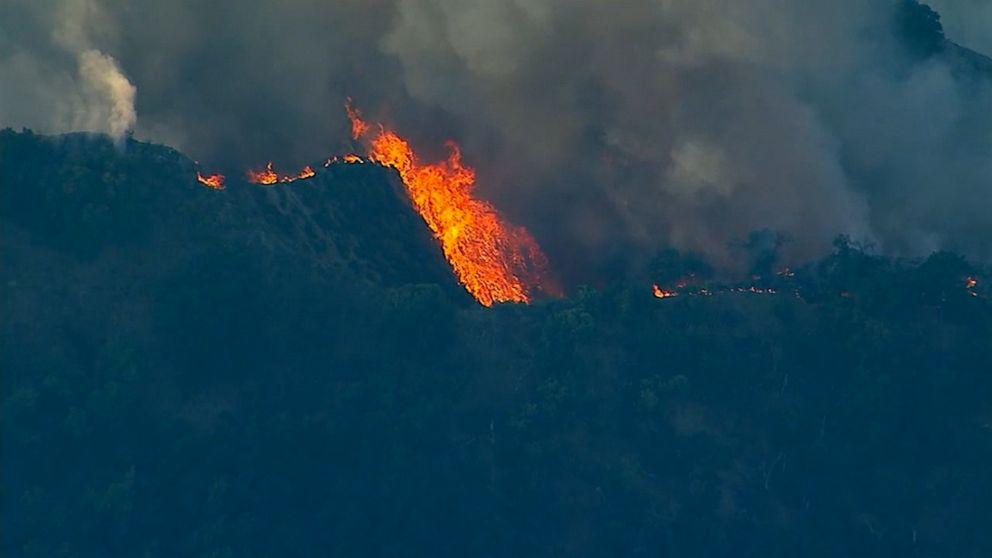 Saddleridge fire began at base of electrical tower, investigators say