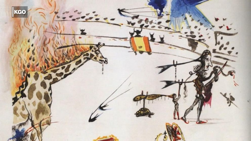 Brazen thief steals $20,000 Dali etching from gallery
