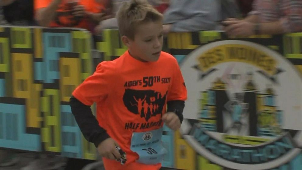 11-year-old becomes first person to run half marathons in all 50 states