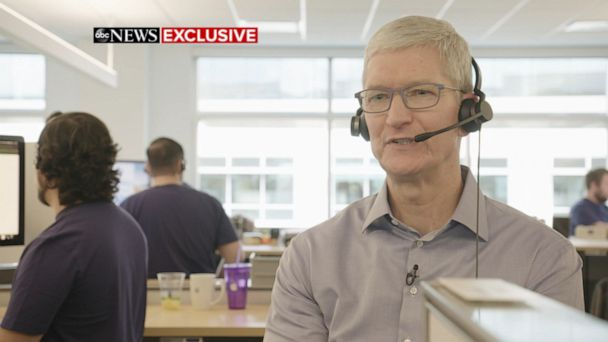 Apple CEO speaks with customer at call center