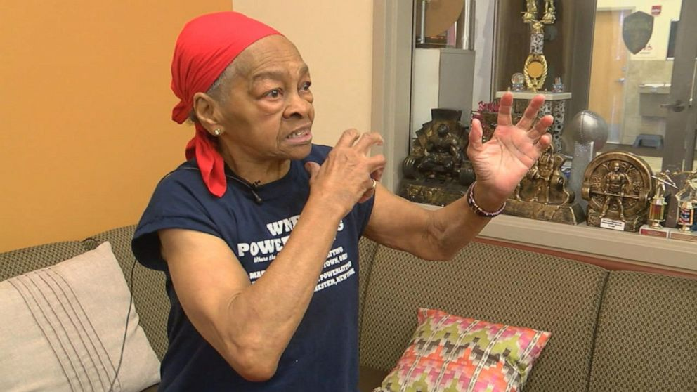 Female bodybuilder, 82, beats home intruder so badly he had to be taken to hospital