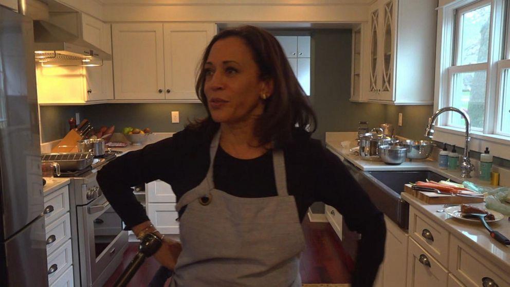 2020 Presidential Candidate Kamala Harris Preps Thanksgiving Dinner Video Abc News
