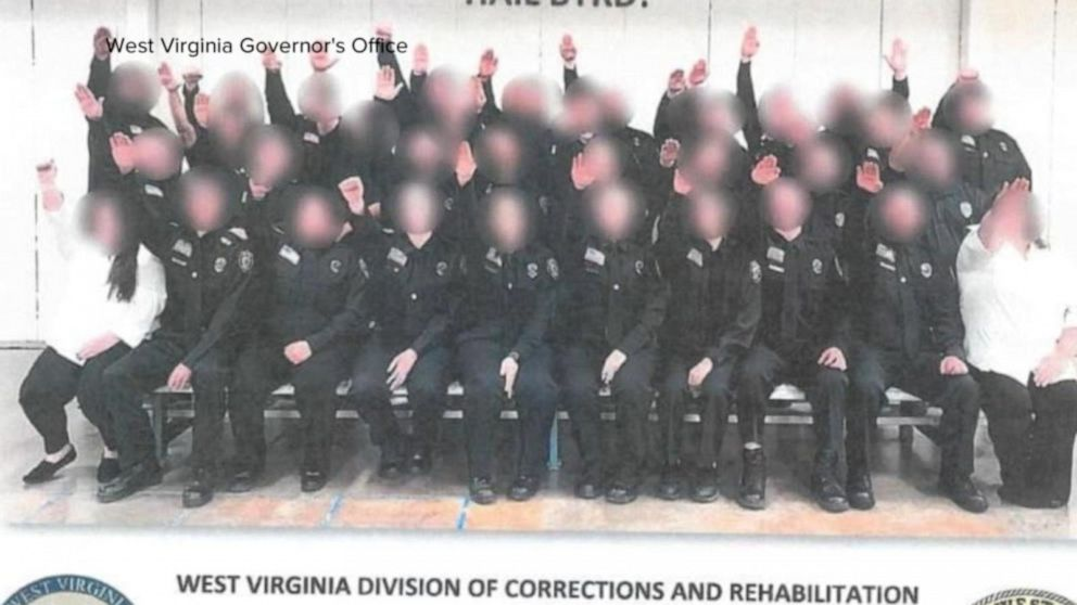 Corrections workers suspended for over Nazi salute Video