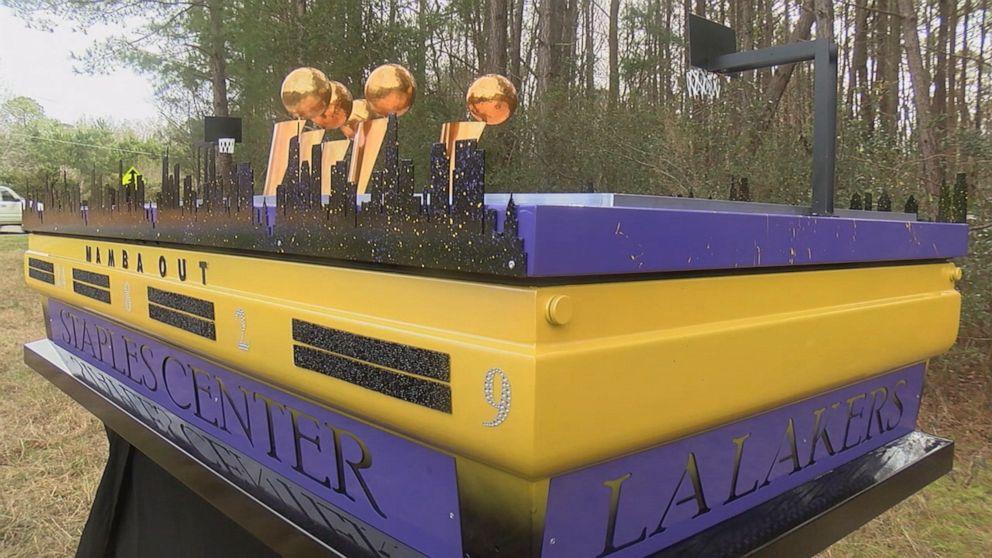 Man built custom casket honoring Kobe