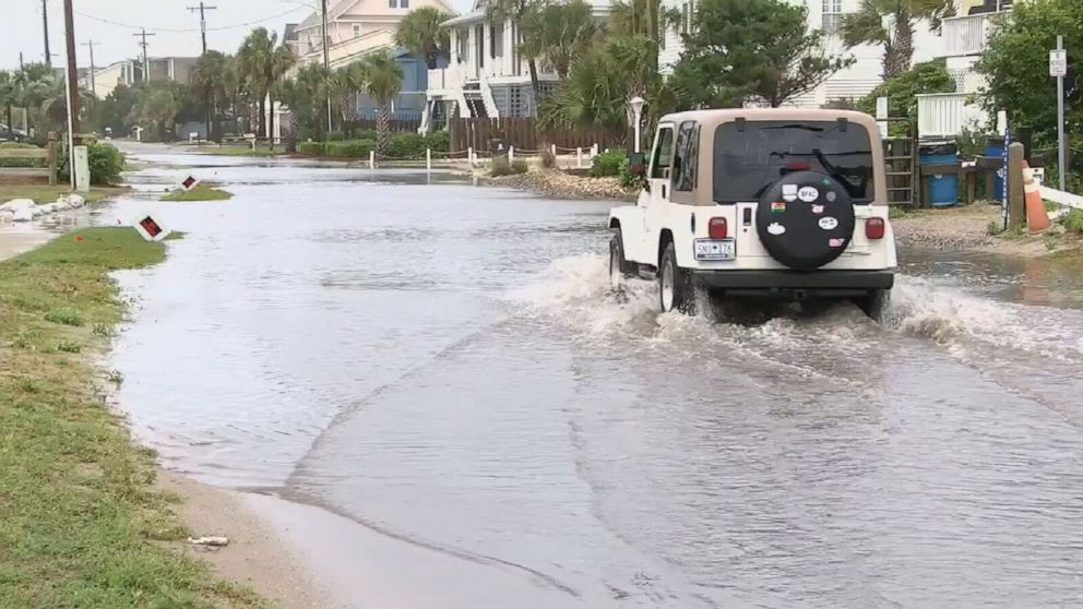 Tropical storm floods streets in Charleston