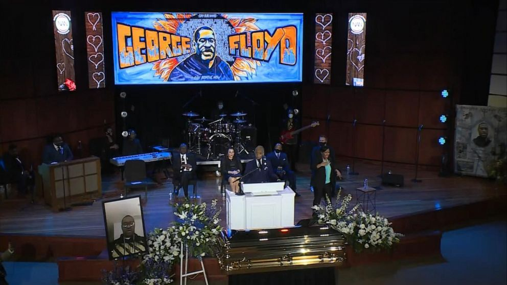 George Floyd S Memorial Filled With Love Hope And Calls For Change Abc News