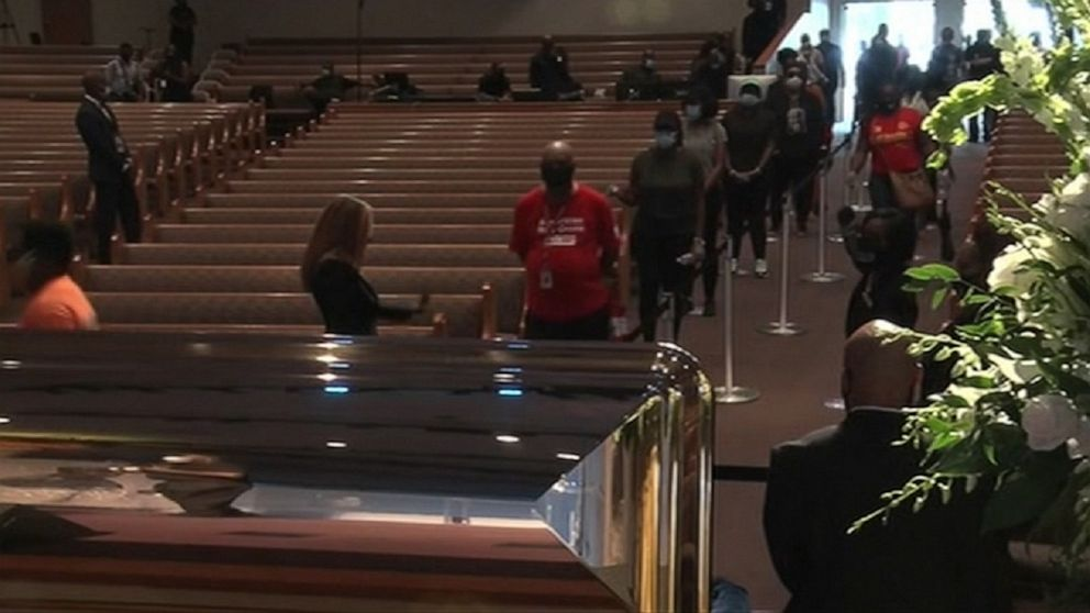 Public Viewing For George Floyd Underway In Houston Abc News