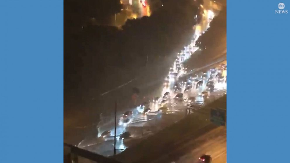 Severe flooding causes road closures in Atlanta