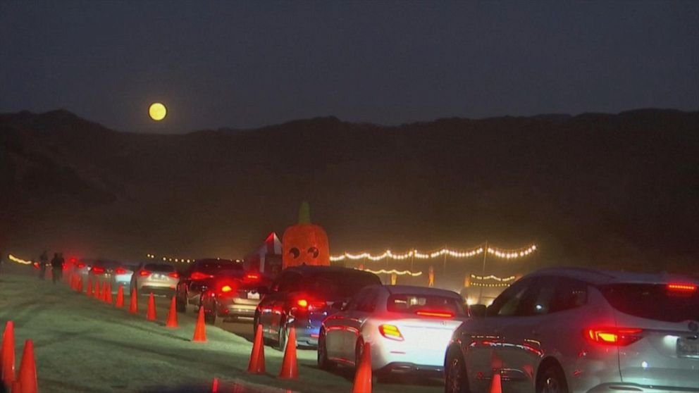 Halloween celebration transformed into contactless drive-thru event