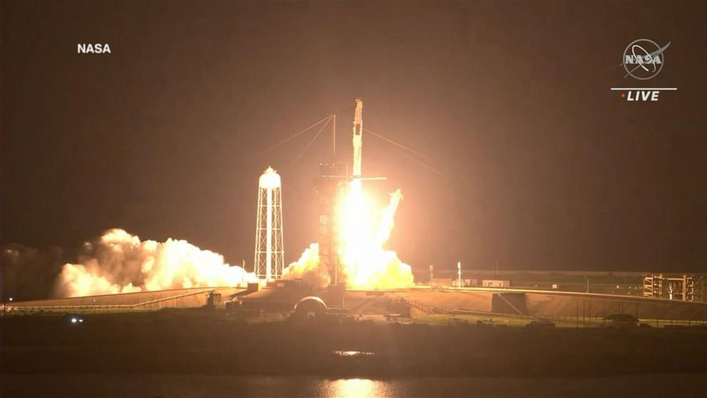 ABC News Live Update: Falcon Rocket's successful launch sends 4 astronauts to ISS