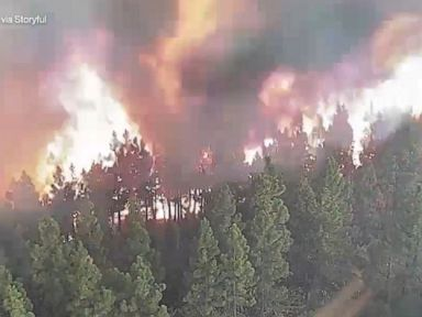 WATCH:  Time-lapse captures rapidly growing wildfire in California