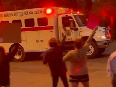 WATCH: Locals cheer on firefighters battling Lake Tahoe-area blaze