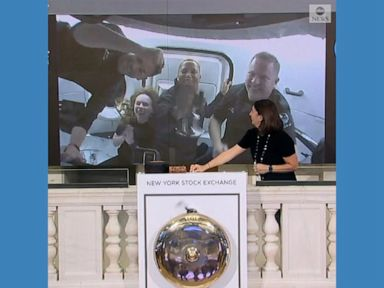 WATCH:  Civilian astronauts ring NYSE closing bell from space