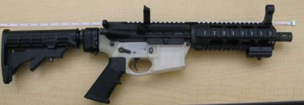 A gun printed by a 3D printer.