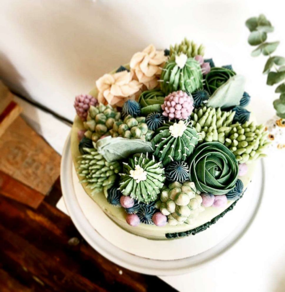 PHOTO: Jiahn Kang founded Brooklyn Floral Delight and started creating cakes that look like plants.