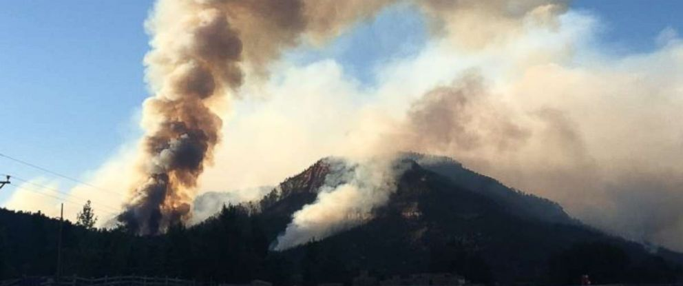 The 416 fire in Colorado was only 10 percent contained on Friday, June 8, 2018.
