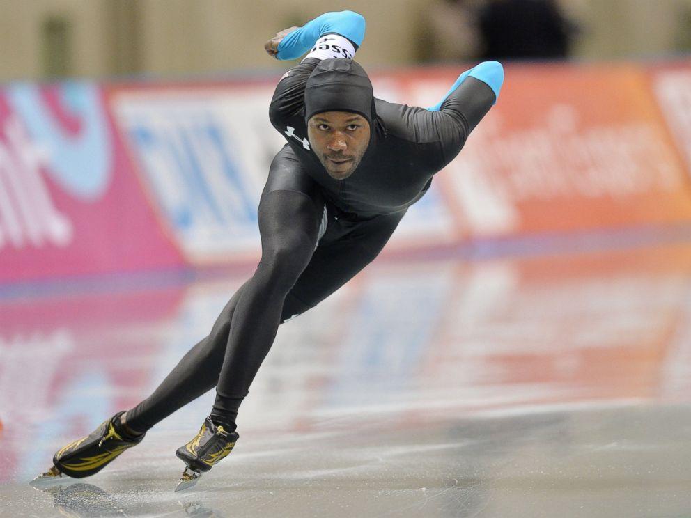 PHOTO: Shani Davis of USA competes in men 500m during Essent ISU World Sprint Speed Skating Championships 2014 at M Wave, Jan. 19, 2014, in Nagano, Japan.