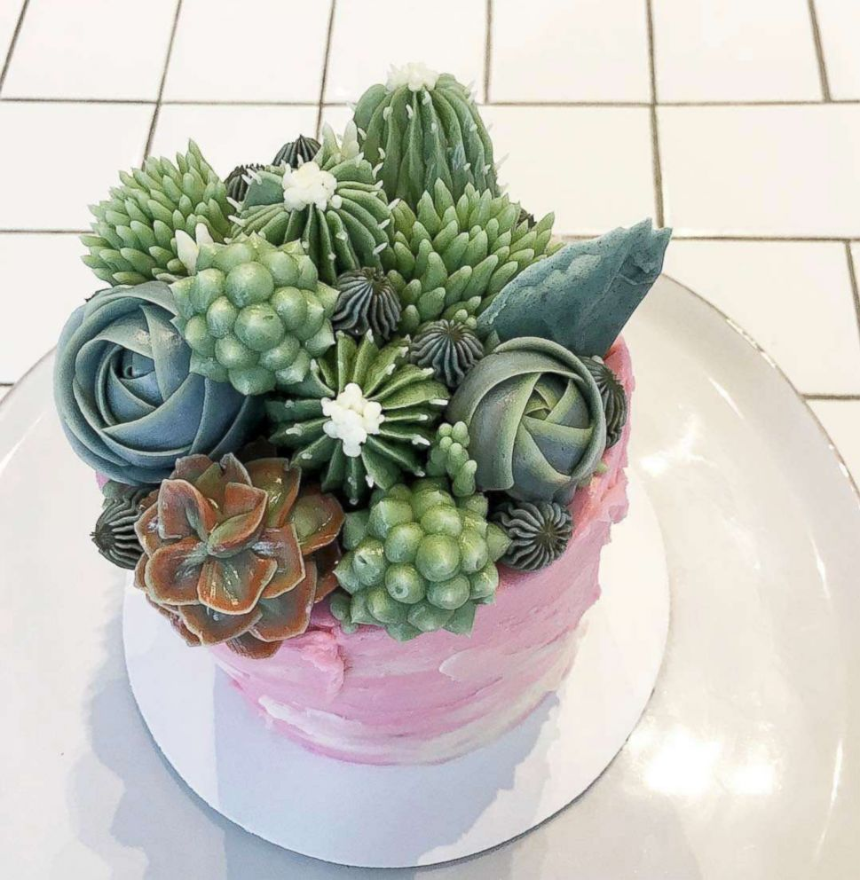 PHOTO: Baker Jiahn Kang makes beautiful cakes that look like succulents.