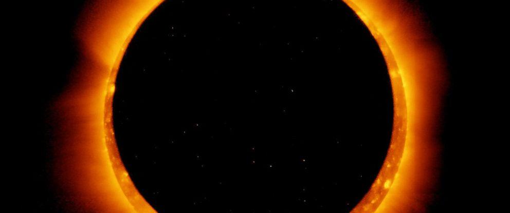 PHOTO: A satellite captures a annular solar eclipse on Jan.4, 2017.