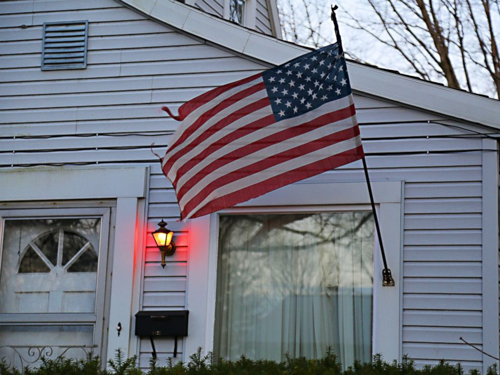 PHOTO: Delphi, Indiana, residents place lights outside their homes to signify solidarity with Abby Williams and Libby German, who disappeared Feb. 13, 2017, and were found dead the next day.
