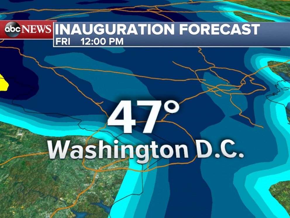 Inauguration Weather Forecast Looks Rainy, But It Could Be