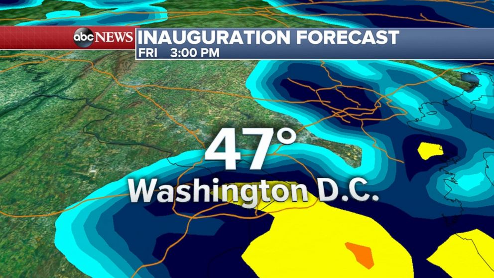 Inauguration Weather Forecast Looks Rainy But It Could Be Worse