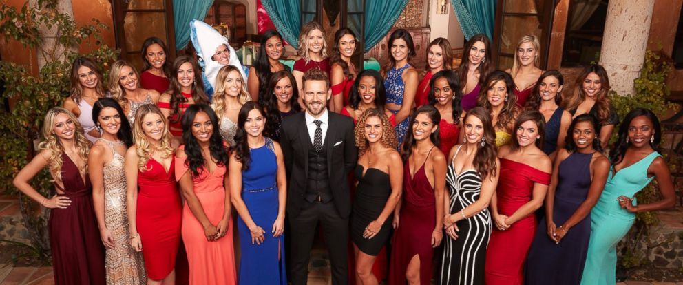 """PHOTO: Nick Viall with the women of ABCs """"The Bachelor."""""""