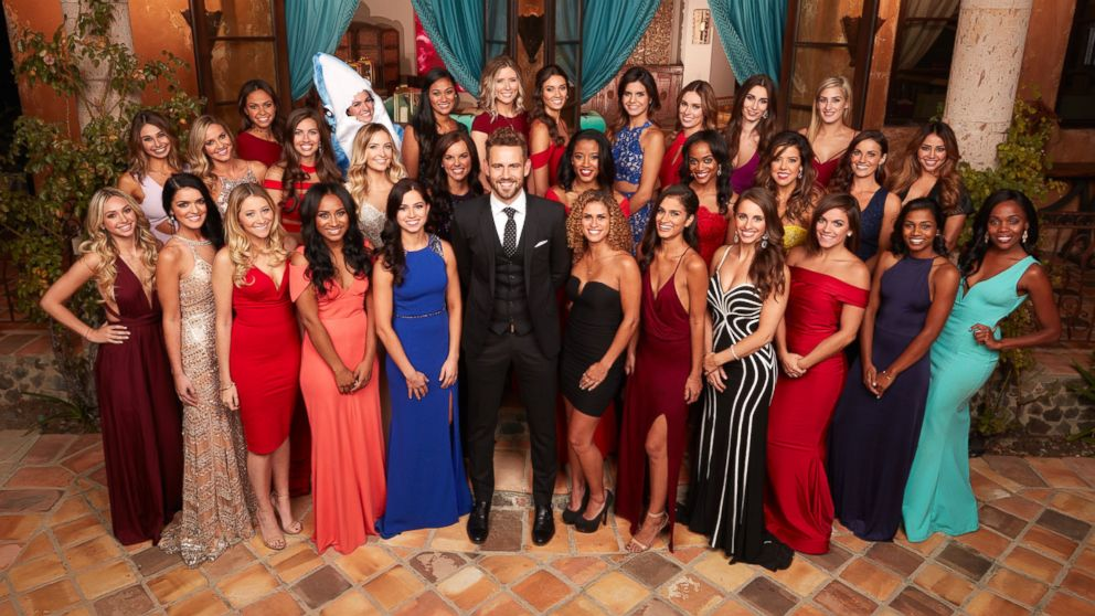 """Nick Viall with the women of ABC's """"The Bachelor."""""""